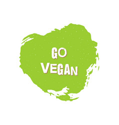 go vegan healthy food badge vector image