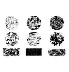 grunge post stamps collection circles banners vector image