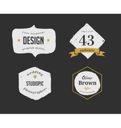 Hand drawn hipster vintage retro labels and logo vector