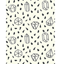 hand drawn style seamless pattern with diamond vector image