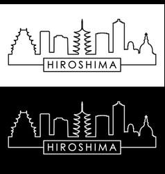 hiroshima skyline linear style editable file vector image