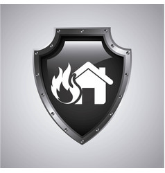 House insurance concept icon vector