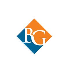 initial bg rhombus logo design vector image