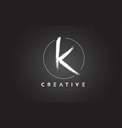 k brush letter logo design artistic handwritten vector image