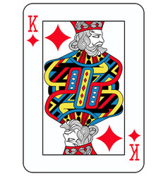 king of diamonds french version vector image