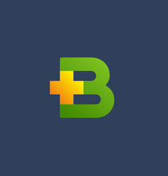Letter b cross plus logo icon design template vector
