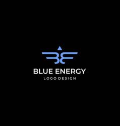 Letter b e logo vector