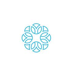 Linear arabesque logo vector