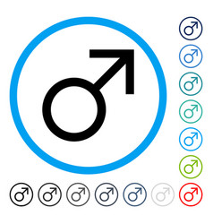 mars male symbol rounded icon vector image