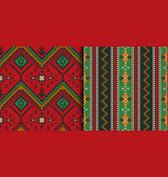 mexican indian aztec geometric seamless pattern vector image