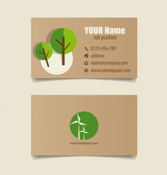Modern business card template design editable vector image