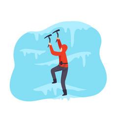 mountaineering man isolated on vector image