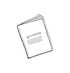 notebook sketch isolated vector image