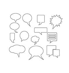Objects speech bubbles vector