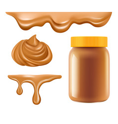 peanut butter healthy breakfast caramel or vector image