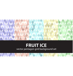 pentagon pattern set fruit ice seamless vector image