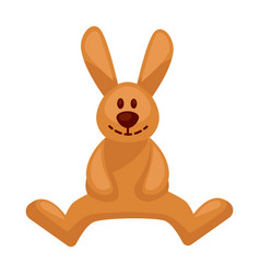 plush toy hare with long ears vector image