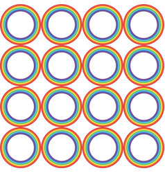 rainbow circle pattern vector image