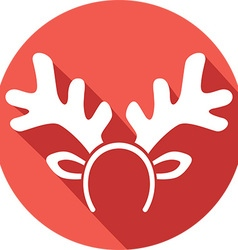 Reindeer Mask Icon vector