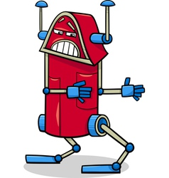 robot character cartoon vector image
