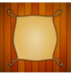 Rope frame with parchment banner vector image