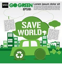 Save world concept EPS10 vector