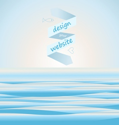 Sea background for web site vector