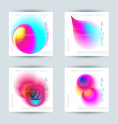 set abstract colorful blur vibrant gradient vector image