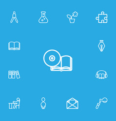 set of 13 editable science icons line style vector image