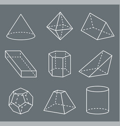 shapes with lines collection vector image