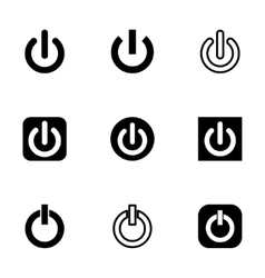 shut down icon set vector image