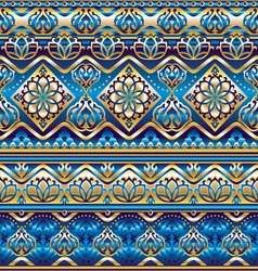 silk blue ornament vector image