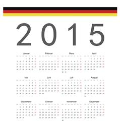 Simple german 2015 year calendar vector