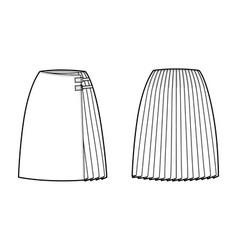Skirt kilt wrap technical fashion vector