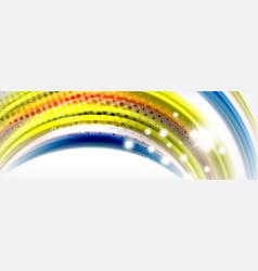 smooth liquid blur wave background color flow vector image