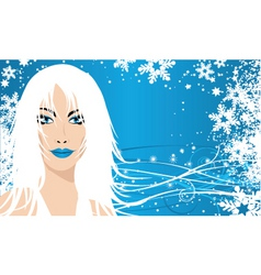 snow queen vector image