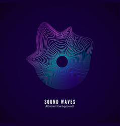 sound equalizer with frequency splash music waves vector image