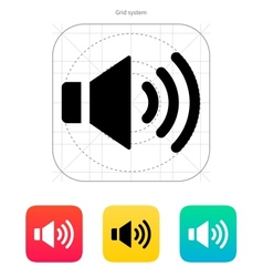 Speaker icon Volume max vector image
