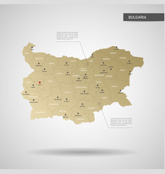 stylized bulgaria map vector image