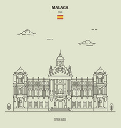 town halll in malaga spain vector image