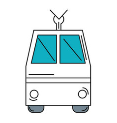 tram vehicle isolated icon vector image