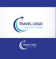 Travel logo creative vector