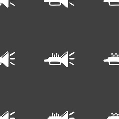 Trumpet brass instrument icon sign Seamless vector