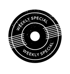 Weekly Special rubber stamp vector
