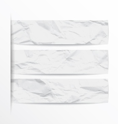 White Paper Banners Set of Eps vector image