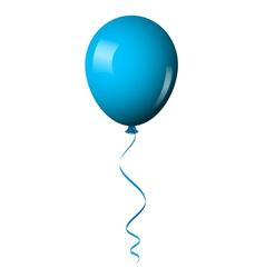 blue balloon vector image vector image