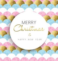 Christmas and new year bright gold design vector image vector image