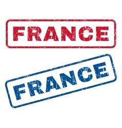 France Rubber Stamps vector image vector image