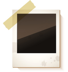 Old Polaroid photo frame vector image