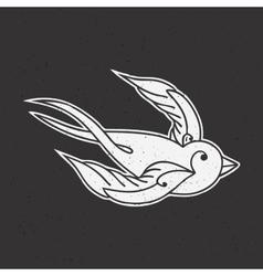 Old school tattoo bird vector image